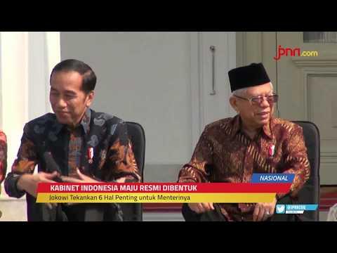 6 Pesan Penting Jokowi Untuk Menteri Kabinet Indonesia Maju