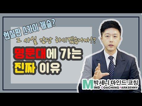 스카이 캐슬? 명문대에 가야만 하는 진짜 이유 / 박세니 마인드코칭