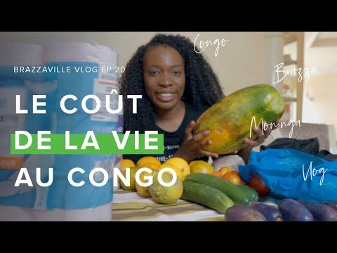 Faire les courses au Congo: Combien ça coûte? // CONGO-BRAZZAVILLE VLOG