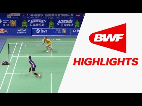 TOTAL BWF Thomas & Uber Cup Finals 2016 | Badminton QF-Uber Cup-THA vs IND-Highlights