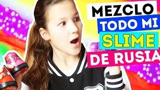 SLIME DE RUSIA - LOS MEZCLO TODOS Y PASA ESTO | Daniela Golubeva slime