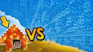 NOVÁ ICE TSUNAMI VS DŮM S LÁVOU! - Zníčí to celé obří Minecraft město?!