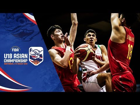 China def. Lebanon, 100-52 (REPLAY VIDEO) 2018 FIBA Asia U18