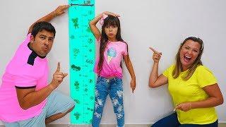 Laurinha quer ser alta e pular no pula pula (kids wants to be taller & jump on a trampoline) 🍭🍬