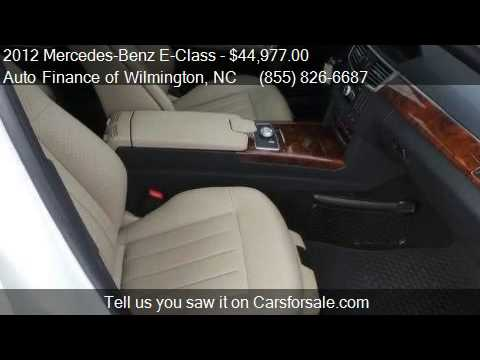 2012 Mercedes Benz E Class 4MATIC For Sale In Wilmington, NC