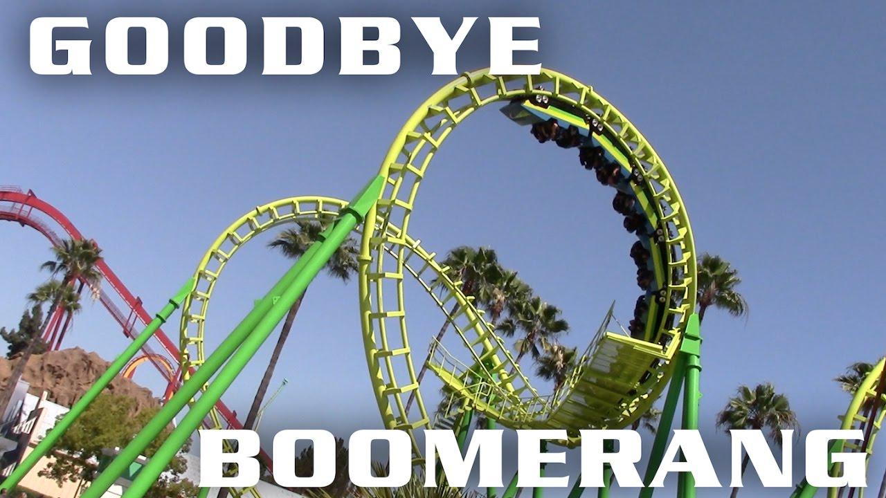 Knott S Berry Farm To Remove Boomerang Roller Coaster Youtube