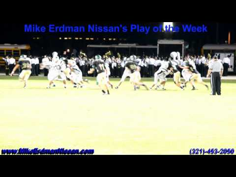 Mike Erdman Nissan's Play of the Week Viera High hosting Melbourne High