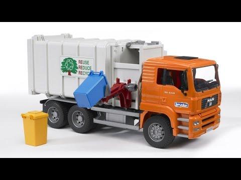 Xe rác đồ chơi trẻ em Garbage Truck Bruder Man Kids Toy