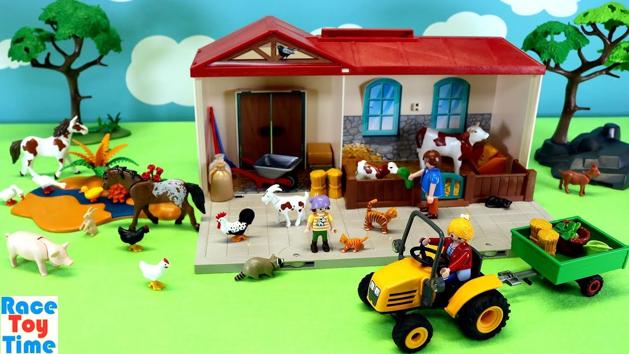 Toy Barn Toys R Us Playmobil Country Take Along Farm Stable Playset With Fun