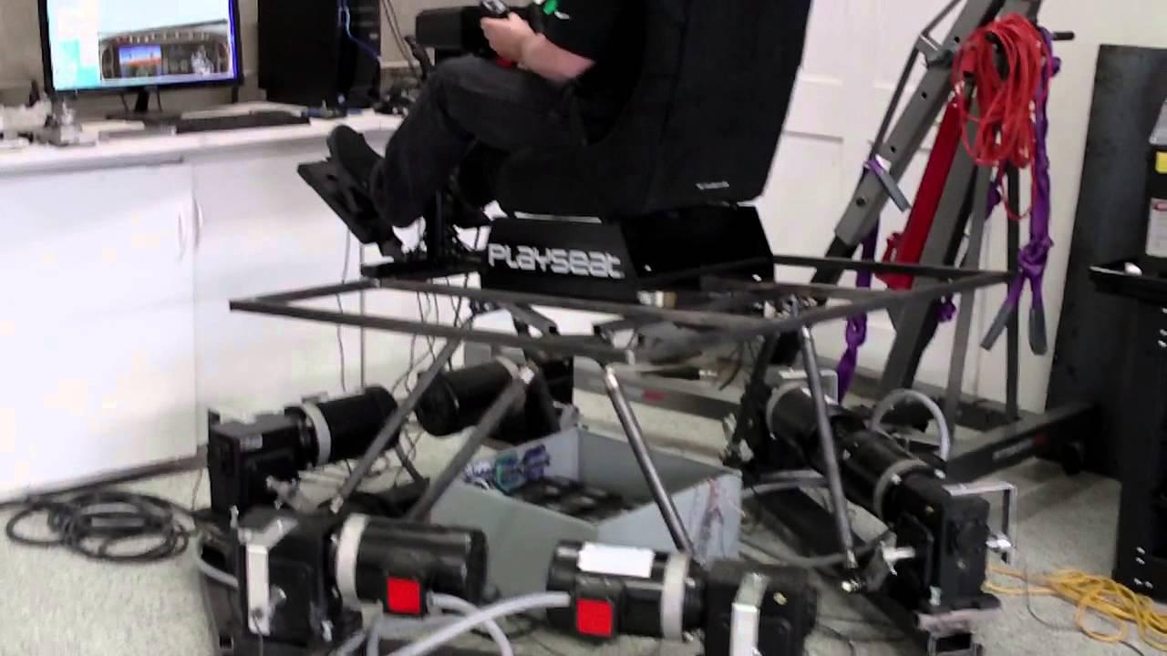 6DOF platform in action - x-plane - Ian's BFF 6DOF software - AMC1280USB