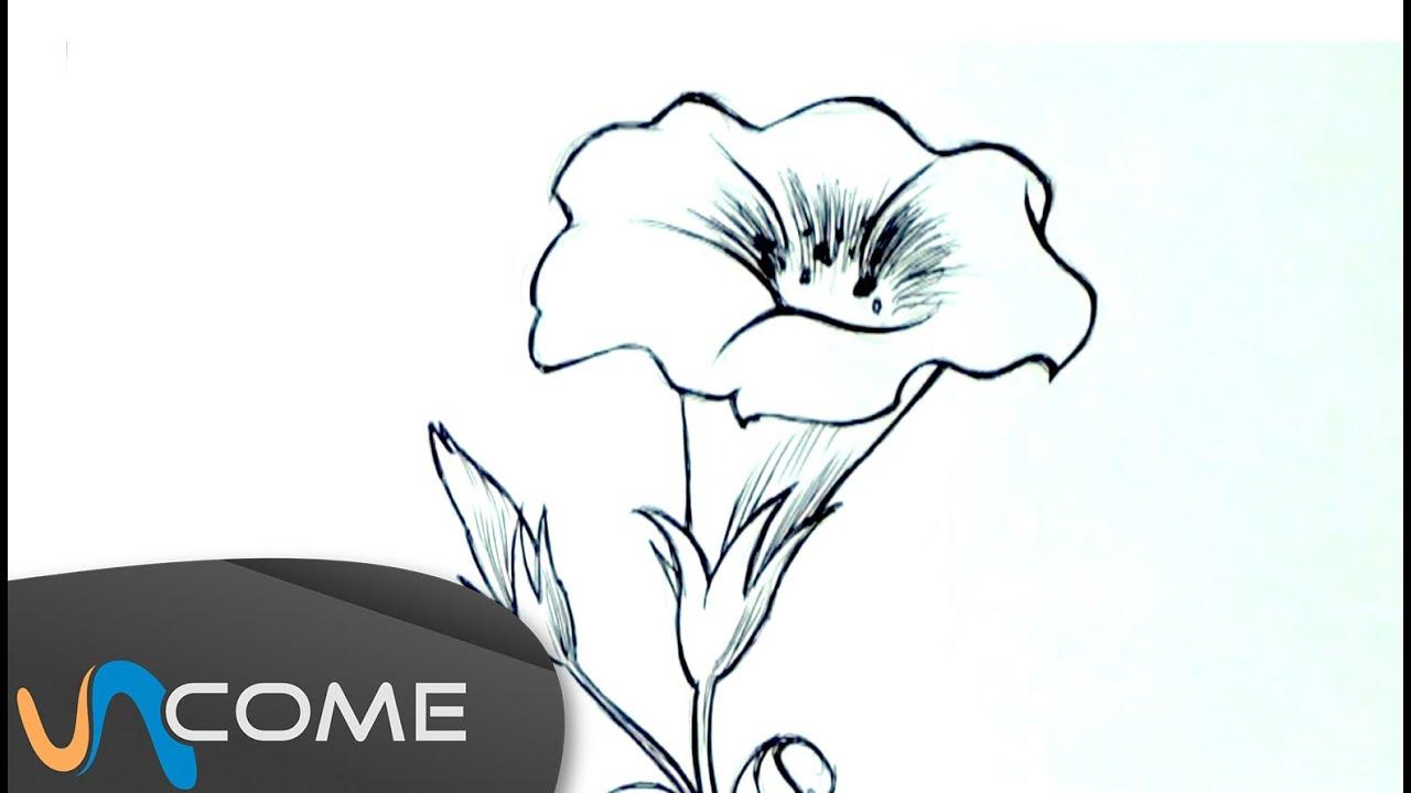disegna un fiore facilmente youtube