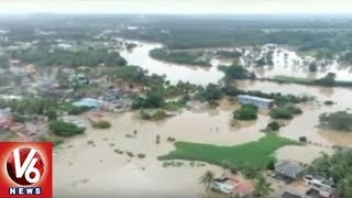 Kerala Floods Updates | After Review Meeting, PM Modi Conducts Aerial Survey | V6 News