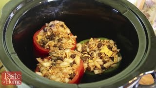 Slow-cooked Vegetarian Stuffed Peppers Recipe