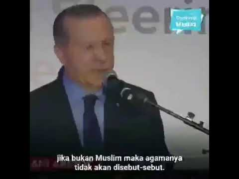 Pidato Erdogan Mengenai Kejadian Penembakan Di New Zealand