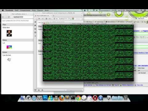 nodejs push notifications from a MySQL database