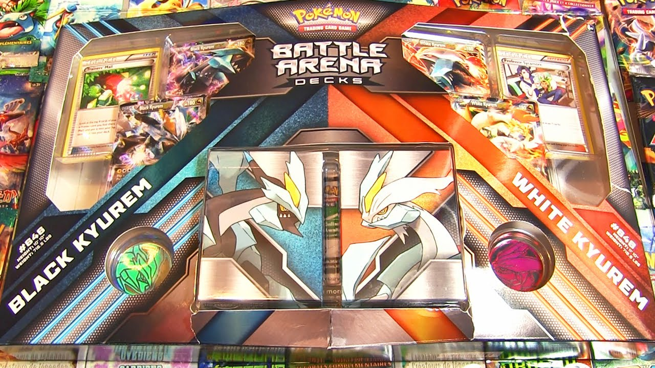 Ouverture Du Battle Arena Decks Pokémon Kyurem Noir Vs Kyurem Blanc Ex En Masse