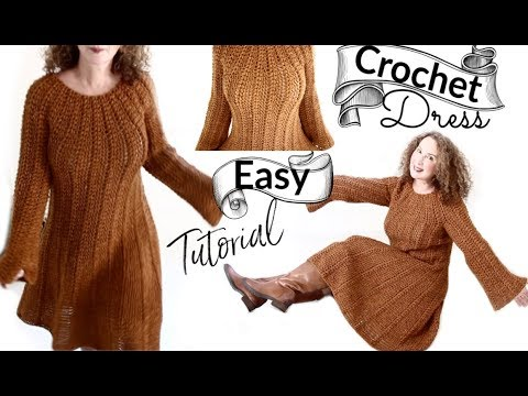 Pumpkin Spice Fall Dress Crochet Tutorial thumbnail