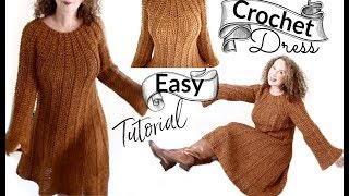 Pumpkin Spice Fall Dress Crochet Tutorial