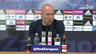 Rueda de prensa de César Láinez tras el Real Zaragoza vs RCD Mallorca (1-0)