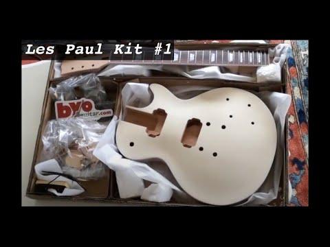 guitare en kit type les paul teinture honeyburst table en rable flamm e youtube. Black Bedroom Furniture Sets. Home Design Ideas
