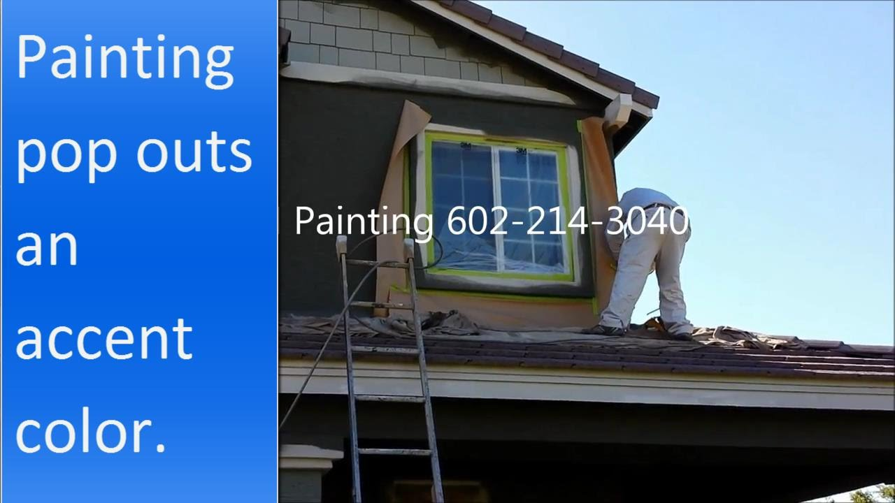 How To Paint Exterior Stucco Pop Outs An Accent Color