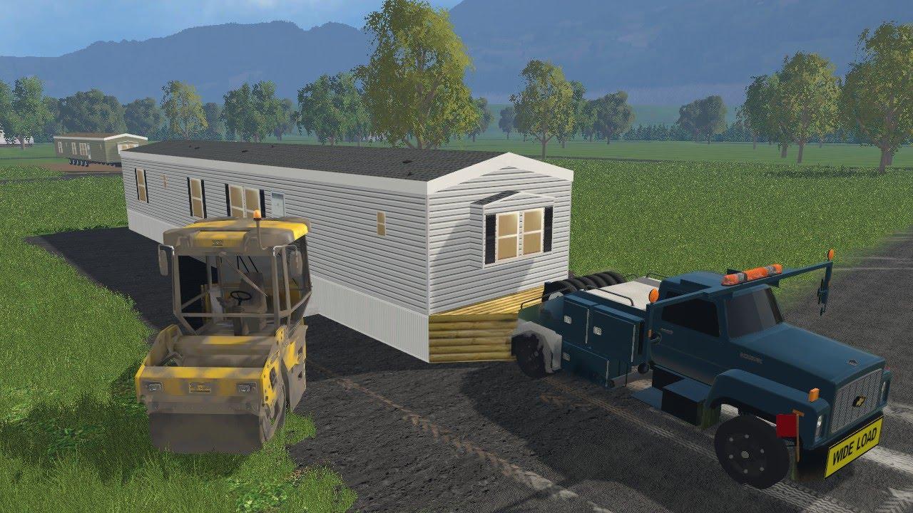 Farming simulator 15 lawn care construction ep 7 mobile for Home building simulator
