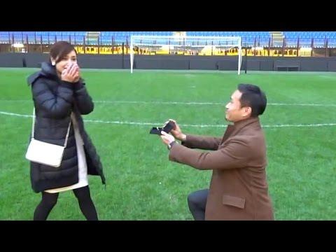 長友佑都選手、平愛梨にプロポーズ!ひざまずき指輪を… 映像公開 #Yuto Nagatomo #Airi Taira
