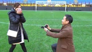 長友佑都選手、平愛梨にプロポーズ!ひざまずき指輪を… 映像公開 #Yuto Nagatomo #Airi Taira thumbnail