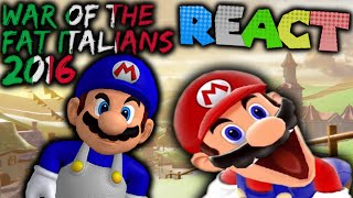 LUIGIKID REACTS TO: SM64: WAR OF THE FAT ITALIANS 2016 (900K Special) by SMG4