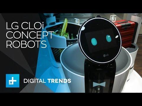 LG CLOi Concept Robots – Hands On at CES 2018
