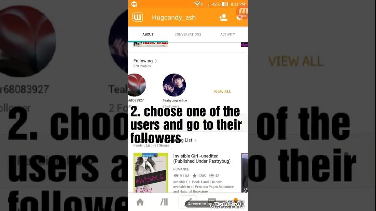 How to get many followers on wattpad
