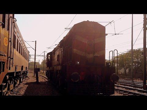 INDIAN RAILWAYS Katni based WDG Diesel and dual WAG-5HA  Electrics wait for their signal in TKD yard