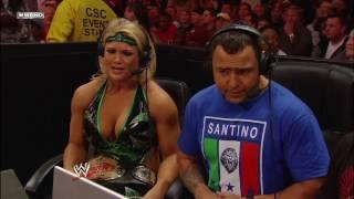 WWE Raw Melina vs Jillian Hall + Santino, Beth Phoenix and Melina Segment