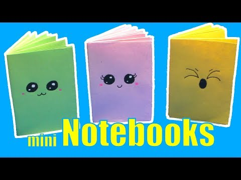 DIY Mini Notebook - Kawaii Mini Notebook No Glue Method