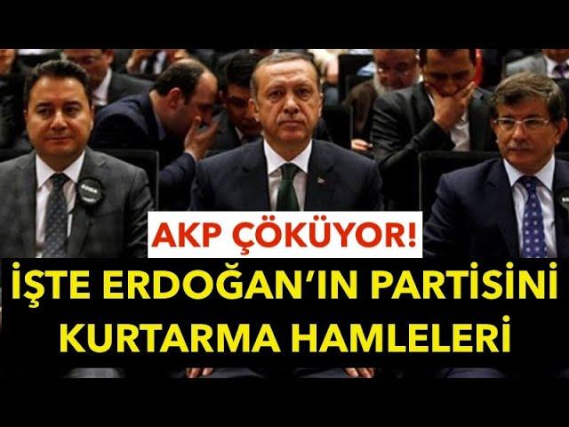 AKP'DE ÇÖKÜŞ PANİĞİ...