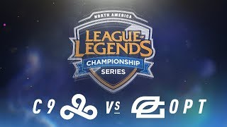 C9 vs. OPT - Week 3 Day 1 | NA LCS Spring Split | Cloud9 vs. OpTic Gaming (2018)