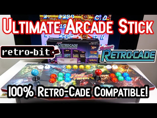 2 Player Arcade Stick For Retro-Bit Super Retro-Cade RetroPie & More!