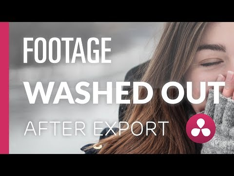 Washed Out Exports | Davinci Resolve Tutorial