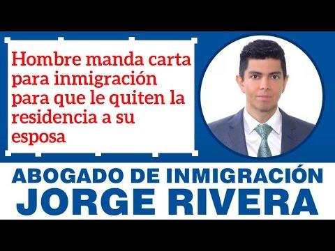 Hombre Manda Carta Para Inmigración Para Que Le Quiten La Residencia