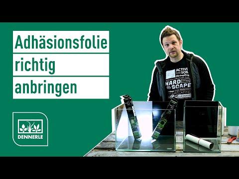 Aquarium Adhäsionsfolie richtig anbringen | Nano Scaper's Back | DENNERLE