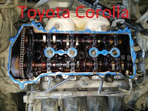 Замена прокладки клапанной крышки Toyota Corolla 2001 vvt i
