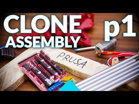 Prusa i3 MK2 3D printer clone live assembly: p1, Y-axis