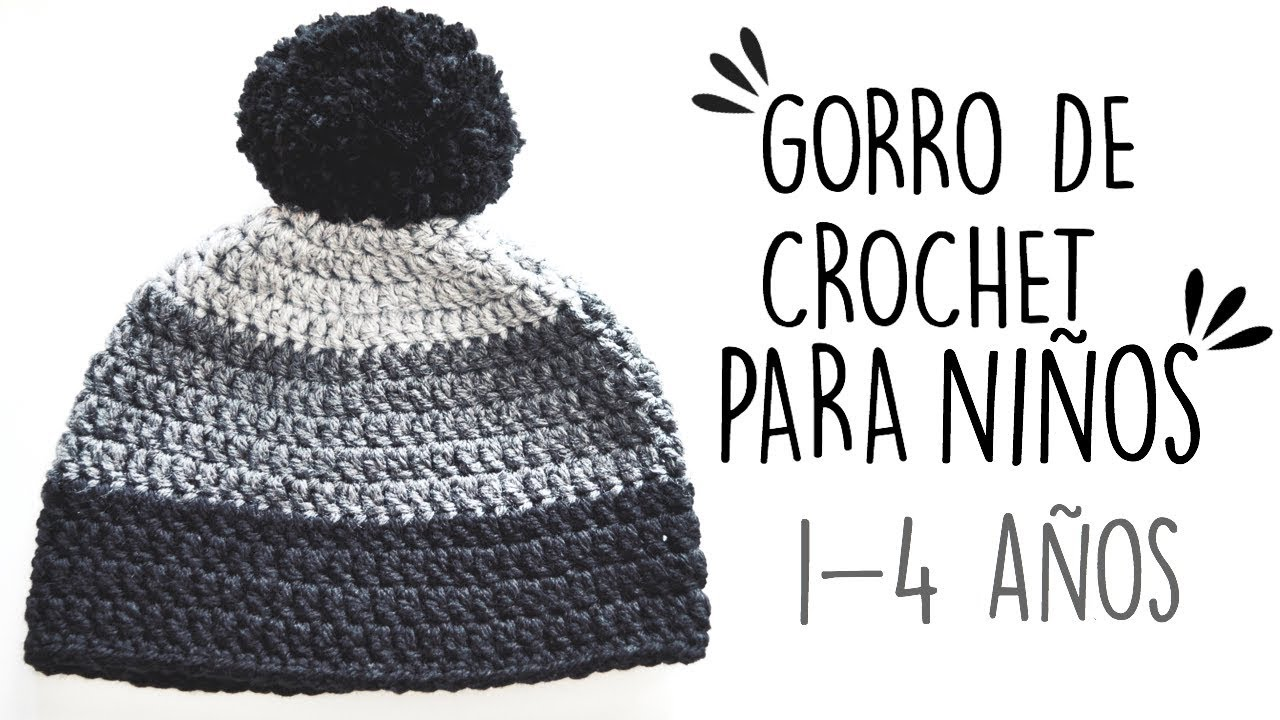 GORRO DE CROCHET PARA NIÑOS | 1- 4 AÑOS | Danii\'s Ways ♡ - YouTube