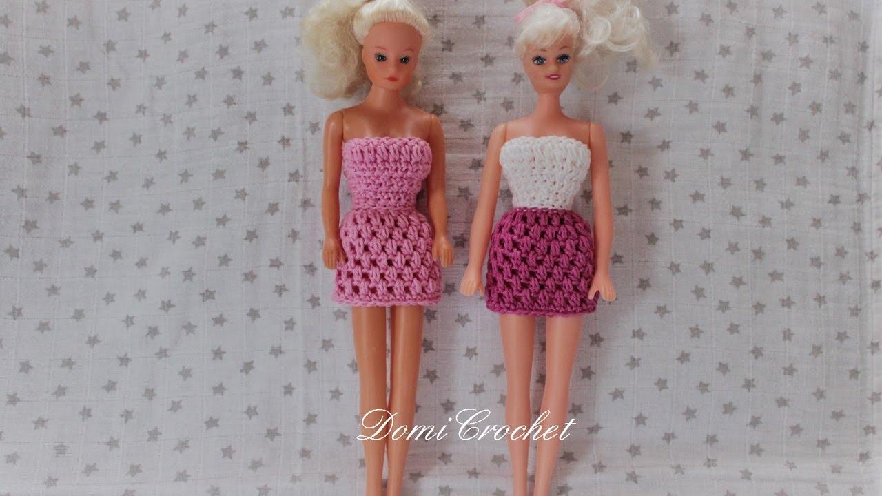 b2fe90aed92e Háčkované šaty pre Barbie - YouTube