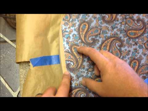 Metallic Silver Paisley Bass - Part 2 - Applying the Paisley Veneer