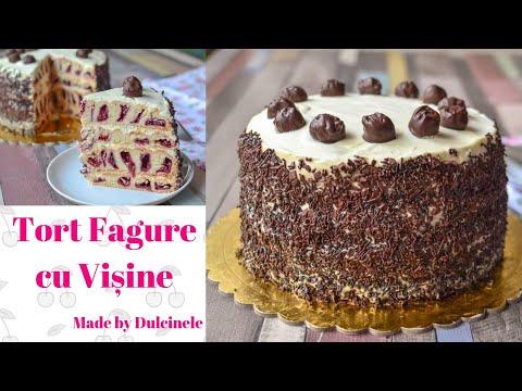 Tort Fagure cu vișine (Tort Cușma lui Guguță)    🎂DULCINELE 🎂