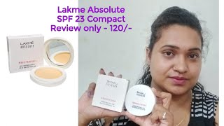 Lakme Absolute Perfect Radiance SPF 23 Compact Review Creative Yamini