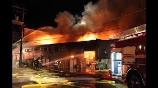Large fire destroys print shop in Vancouver