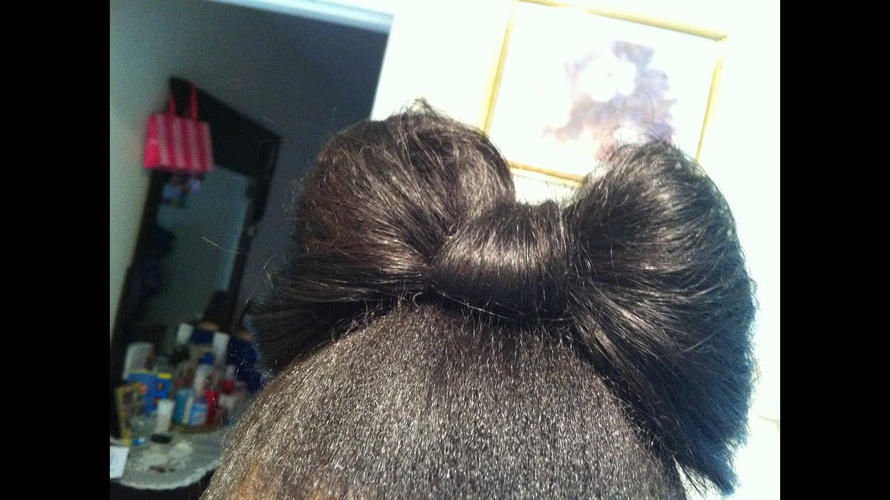 How To Make A Hair Bow With Your Hair! (using Weave)
