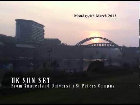 Nature - Sun Set -UK Sunderland City (From University of Sunderland - St Peters Campus)